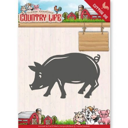 YCD10130 L ~ Pig ~ Country Life ~ Yvonne Creations